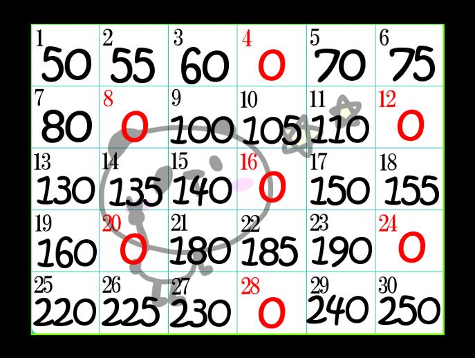 スクワットチャレンジ30日表