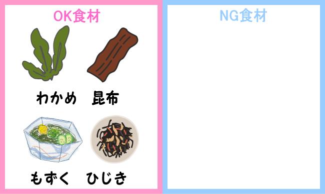 NG食材 海藻