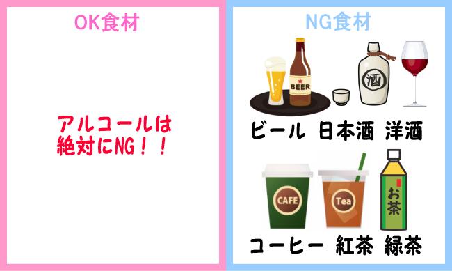 NG食材 お酒