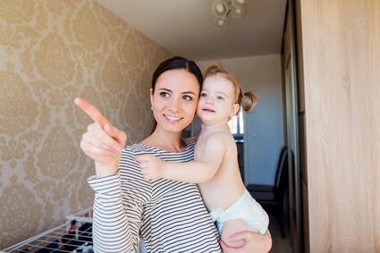 ママ 指差し