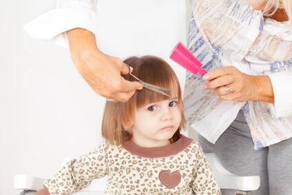 赤ちゃん 女の子 前髪