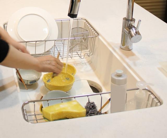 節約,食器洗い